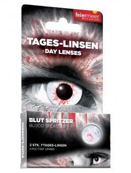 Kontaktlinsen Blut Spritzer (Wochenlinsen)