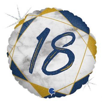 Happy Birthday marmoriert Glitter Folienballon