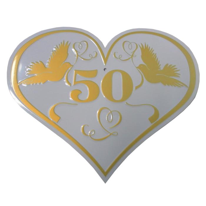 Schild Herz 50