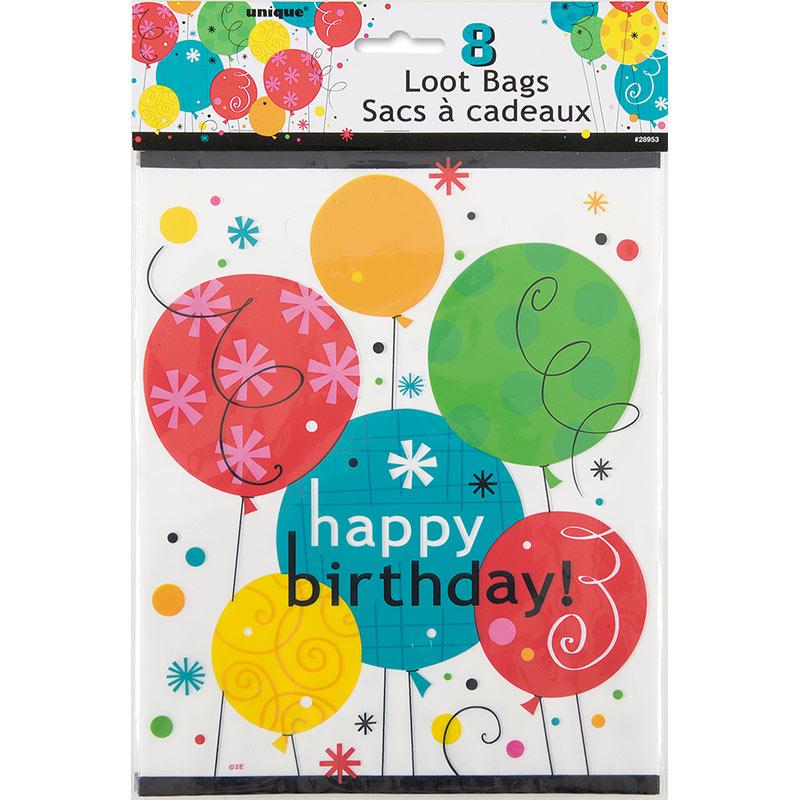 Zoom 8 Geschenktuten Breezy Birthday Balloons